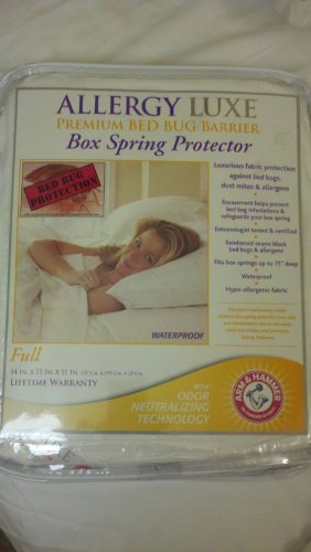 Allergy Luxe Premium Bed Bug Barrier Box Spring Protector Full