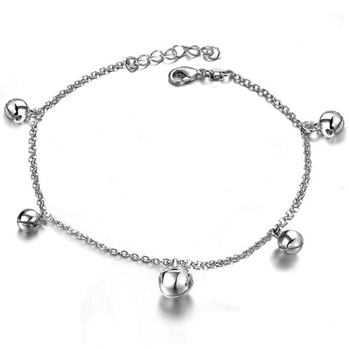 Fashion White Gold Anklet Jewelry Platinum Plated