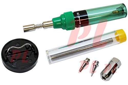 5 in 1 Butane Torch Soldering Iron Solder Hot Blow Heat Shrink Burner Torching (Soldering Iron Propane compare prices)