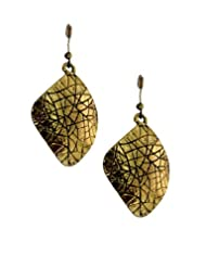 Young & Forever Golden Dazzling Dangler Earrings For Pretty Women