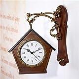 GATTS-Vintage Home Decor :European Retro Double-Sided Wall Clock