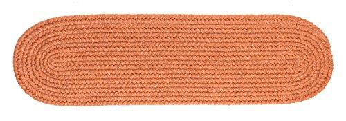 Rhody Rug Solid Wool Stair Tread, Terra Cotta