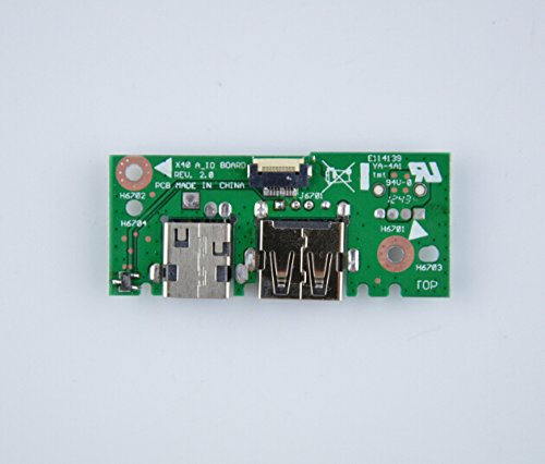 Eathtek DC Power Jack USB VGA LAN IN Board for ASUS X401A X401U X501U X401A-WX396H X401A-RGN4 X401A-RPK4 60-NLOIO1001-X01 32XJ1IB0010 new laptop dc power jack in board dc jack board for lenovo ibm e420 e425 e520 e525 04w1867 04w2083