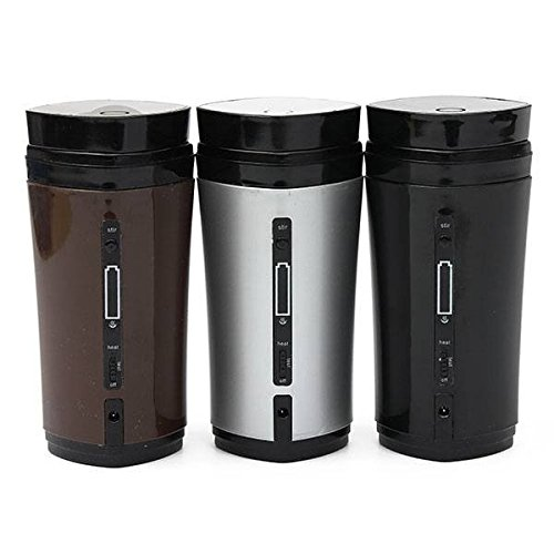 Saver Portable USB Heater Self Stirring Tea Milk Cup Coffee Mug Winter Vacuum Flasks (Usb Cup Heater compare prices)