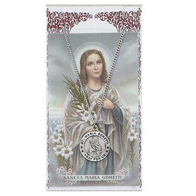 Pewter St. Maria Goretti Medal & 18
