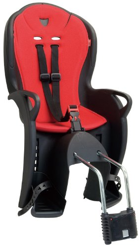 Hamax Kiss Rear Mounted Child Bike / Cycle Seat - Black/Red