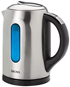 Aroma 1.5 Liter (6-Cup) Digital Electric Water Kettle, Stainless Steel