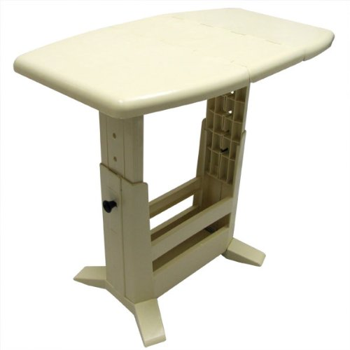 Foldable RV Table Portable RV Folding Table and Magazine Rack (Adjustable Height)