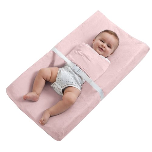 HALO SleepSack SwaddleChange Diaper Pad Covers, Pink, Newborn