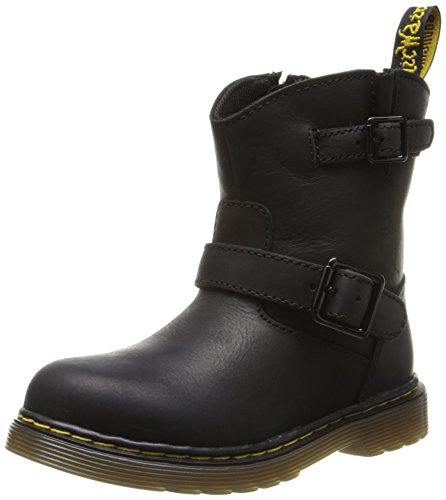 Dr. Martens Jiffy Boot (Toddler/Little Kid/Big Kid),Black Burnished Wyoming,9 Uk(10 M Us Toddler) front-918141