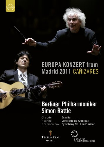 ベルリン・フィル ~ ヨーロッパ・コンサート 2011 (Europa Konzert from Madrid 2011 ~ Chabrier | Rodrigo | Rachmaninov / Berliner Philharmoniker , Simon Rattle , Canizares) [DVD] [輸入盤・日本語解説付]