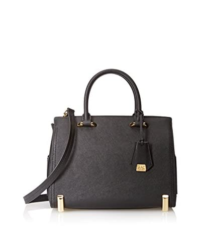 Zac Zac Posen Women's Daphne Barrel Satchel, Black