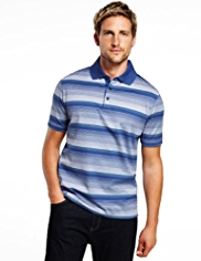 Blue Harbour Pure Cotton Varied Feeder Striped Polo Shirt