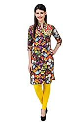 Kurti Collection pure cotton digitally printed rainbow floral ethnic kurti fabric material (Unstitched)