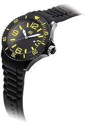40Nine Unisex 40NINE02/BLACK/Y Large 45mm Analog Display Japanese Quartz Black Watch