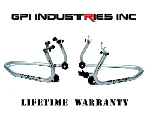 Yamaha YZF R1 R6 R6s FZ1 FZ6 FZ6R Front and Rear Motorcycle Paddock Race Stands Lifts by GPI Industries
