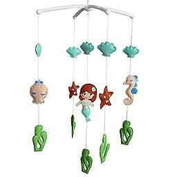 Creative Baby Crib Rotatable Musical Mobile [Mermaid and Starfish]