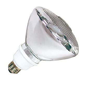 PAR38 FLOODLIGHT CFL COMPACT FLUORESCENT LIGHT BULB 23 WATTS ENERGY STAR 27K WARM COLOR TONE INDOOR-OUTDOOR FLOODLIGHT REPLACES INCANDESCENT AND HALOGEN BULBS