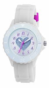 Tikkers TK0034 - Reloj analógico infantil de cuarzo con correa blanca