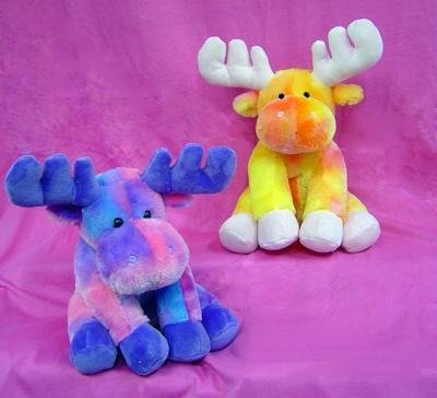 "Tie Dye Moose 8"" By Wishpets - Choose Your Color, One Moose Only - 1"