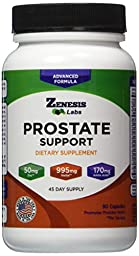 Prostate Health Supplement & Saw Palmetto - 90 Capsules - With Zinc, Copper, Pumpkin Seed, Burdock Root, Amino Acids, & Other Extracts - 45 Day Supply