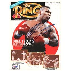 マイク・タイソン直筆サイン入り署名雑誌の表紙ボクシング??雑誌。