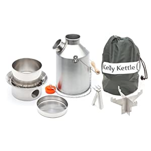 Camp Stove by Kelly Kettle. This Medium Stainless Steel Scout Cook Stove Complete... by Kelly Kettle USA