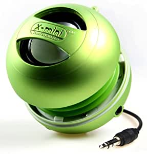 XMI X-Mini II 2nd Generation Capsule Speaker with 3.5mm Jack Compatible with iPhone/iPad/iPod/Smartphones/Tablets/MP3 Player/Laptop - Green