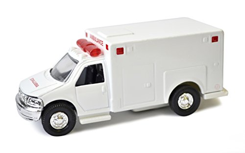 Fire Department Ambulance - Diecast Metal with Plastic Parts Toy - White