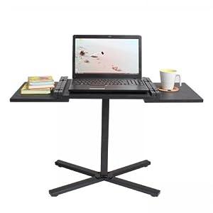 Mesa para ordenador port til mesita auxiliar negro for Mesa ordenador amazon
