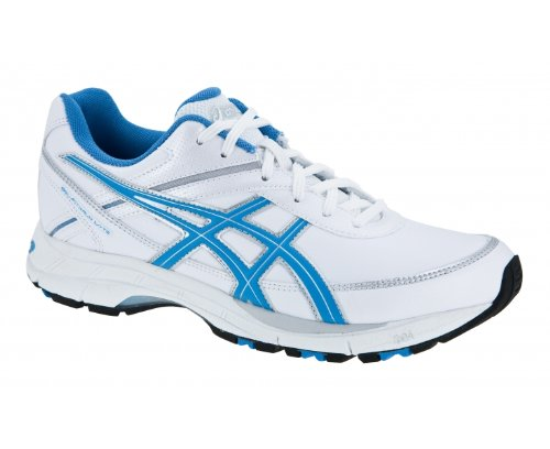 ASICS Gel-Fitwalk Lyte (D) Ladies Walking Shoes, White/Blue/Silver, UK8