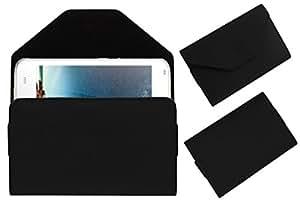 Acm Premium Pouch Case For Intex Aqua Q1+ Plus Flip Flap Cover Holder Black