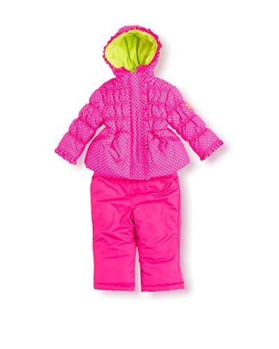 Pink Platinum Kid's Dot Printed Snowsuit