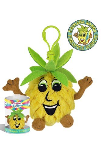 "Whiffer Sniffers Kaumana Wanna Smellya Pineapple Collectible 4"" Backpack Clip - 1"