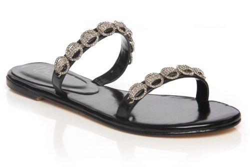Cheap Unze Women Fancy Dress Leather Dual Strap Diamante Party, Evening, Wedding Slipper – Ab-3237 (B007TSOK4S)