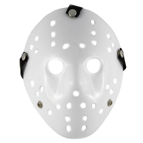 Renineic Friday the 13th Part3 Jason Hockey HORROR Deluxe Mask White