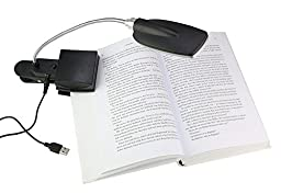 USB or Battery Powered Flexible Clip-On Cold White 28-LED Light Bed Lamp Reading Desk Lamp for Laptop PC Notebook