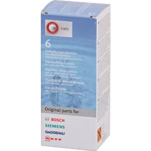 Choose Bosch Decalcifying Tablets for Coffee Machines and Kettles, 6 Tablets - Bosch