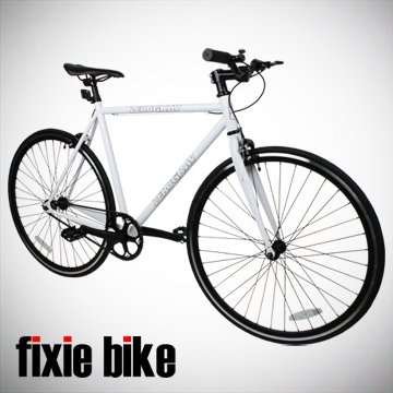 Check Out This New 54cm White Fixed Gear Bike Single Speed Riser
