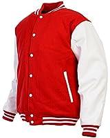 Unisex Cotton Varsity Letterman Jacket Sports Baseball Sweater