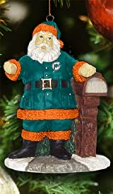 Welcome Home Santa Ornament-NFL - Miami Dolphins