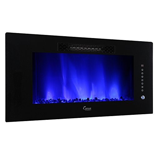 2015 Caesar Luxury Linear Wall Mount Recess Freestanding Multicolor Flame Electric Fireplace, 30-Inch