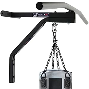 Authentic RDX Chin Pull Up Bar with Punch Bag Bracket Wall Mounted Chinning Station