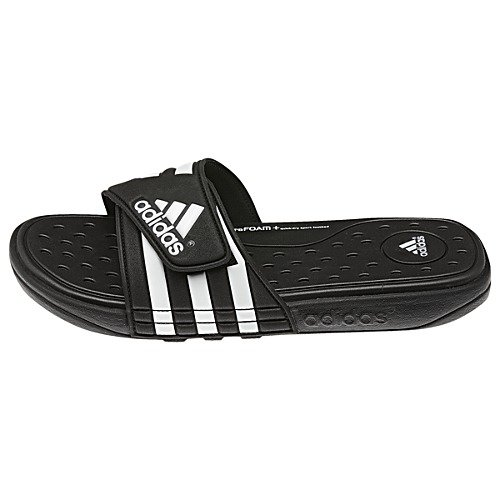 Adidas Men'S Adissage Uf+ Sandal,Black/White/Black,8 D(M) Us back-362451