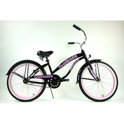 Women's Single Speed Beach Cruiser Frame Color: Black
