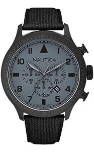 Nautica Men's Quartz Watch A19616G with Leather Strap