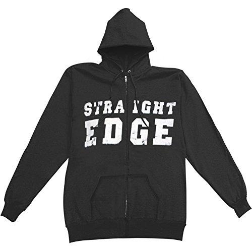 1981 Straight Edge Boys' Straight Edge Zippered Hooded Sweatshirt Youth Large Black (Straight Edge Hoodie compare prices)