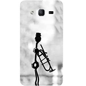 Casotec Metal Musican Design Hard Back Case Cover for Samsung Galaxy On7