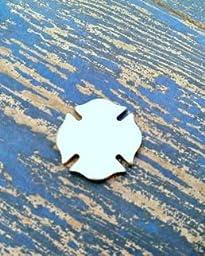 Bro Blanks Aluminum Firefighter / Maltese Cross 7/8 inch Stamping Blanks - Aluminum Blanks - Qty 5 - 14 Gauge - Polished