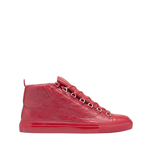balenciaga-womens-wayn0-red-leather-hi-top-sneakers